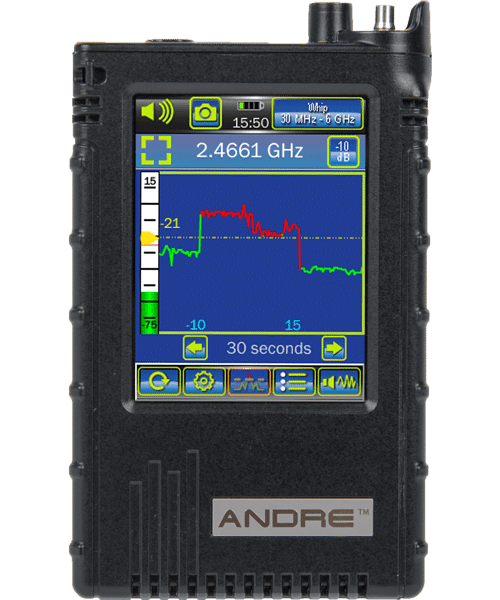 ANDRE near field bug detector graphic
